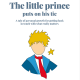 Digital book. The little prince puts on his tie